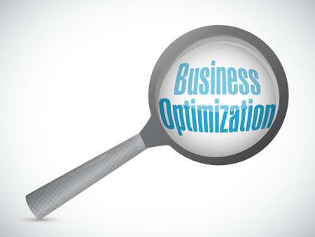 business optimization magnify sign concept illustration design graphic