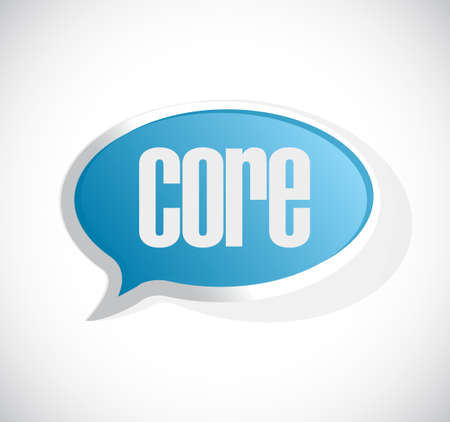 core: core message bubble sign illustration design graphic