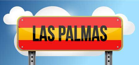 street sign: las palmas spain road street sign illustration design graphic Illustration