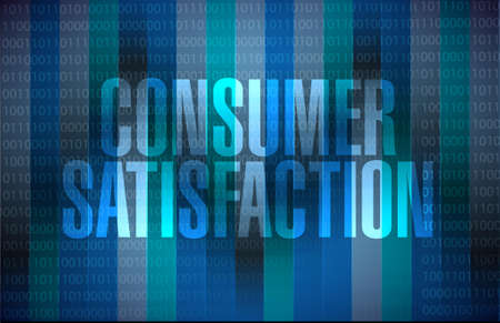 product reviews: Consumer Satisfaction binary background sign concept illustration design graphic Illustration