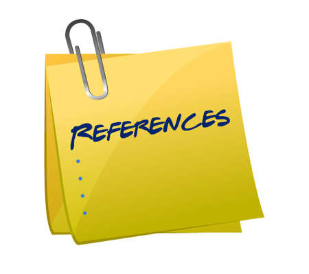 references: references memo post illustration design graphic background