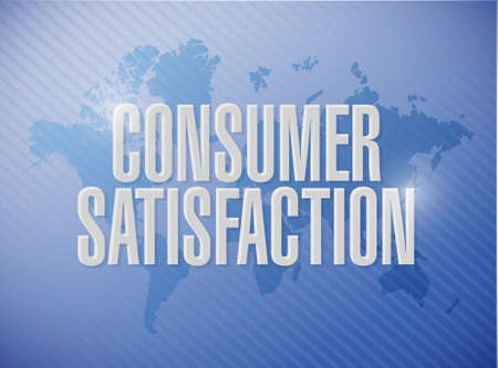 Consumer Satisfaction world map sign concept illustration design graphic Illusztráció