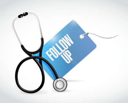 stethoscope and follow up tag illustration design graphic Illustration