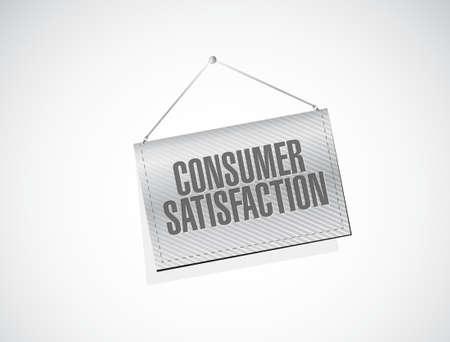 hanging banner: Consumer Satisfaction hanging banner sign concept illustration design graphic Illustration