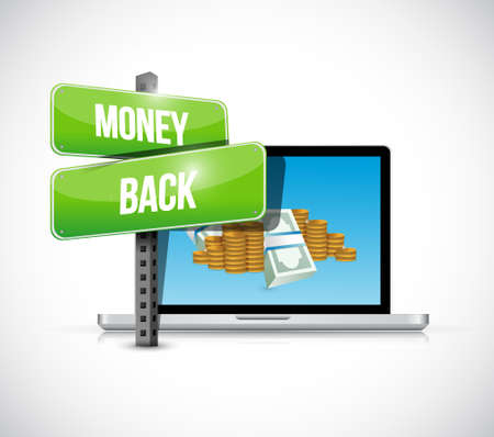 money back and and computer laptop illustration design graphics