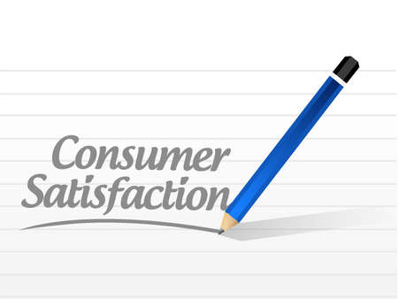 positive note: Consumer Satisfaction message sign concept illustration design graphic
