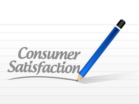 consumer: Consumer Satisfaction message sign concept illustration design graphic