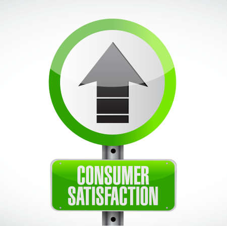 Consumer Satisfaction road sign concept illustration design graphic