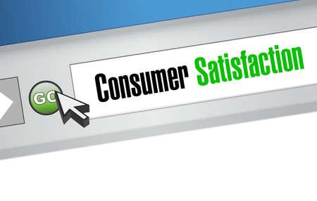 La satisfacción de los consumidores en línea concepto de signo de la ilustración de diseño gráfico
