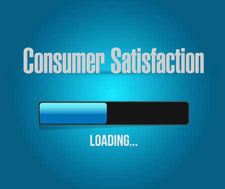 Consumer Satisfaction loading bar sign concept illustration design graphic
