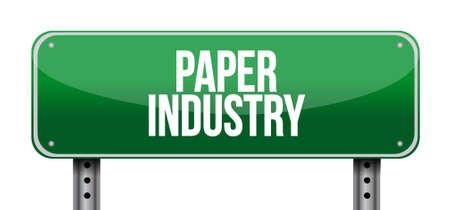 letreros: industria del papel señal de tráfico ejemplo del diseño gráfico