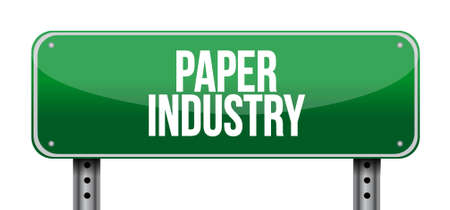 industry design: paper industry road sign illustration design graphic
