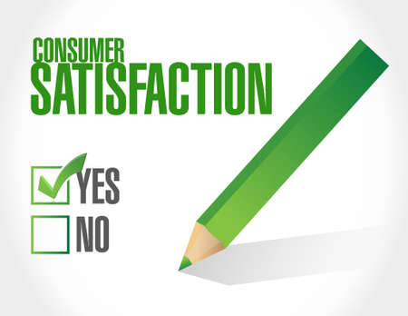 consumer: Consumer Satisfaction approval sign concept illustration design graphic Illustration