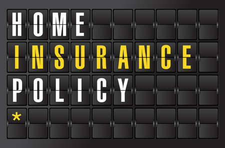 display type: life insurance concept sign on airport board background. illustration design
