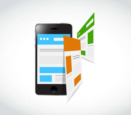 responsive: phone responsive concept and pages illustration design graphic