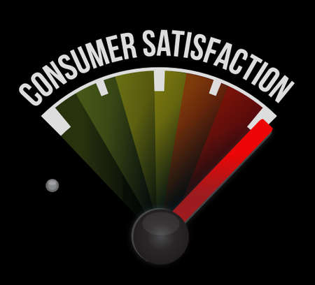 Consumer Satisfaction meter sign concept illustration design graphic