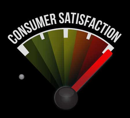 consumer: Consumer Satisfaction meter sign concept illustration design graphic