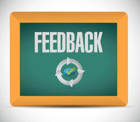 feedback: feedback communication sign concept illustration design graphic