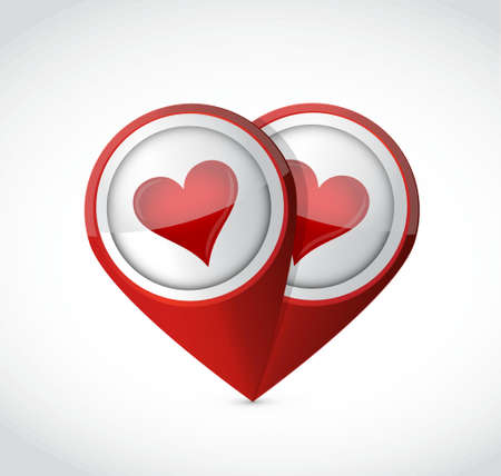 finding love: finding love pointer sign illustration design graphic