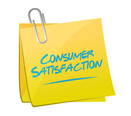 positive note: Consumer Satisfaction memo post sign concept illustration design graphic