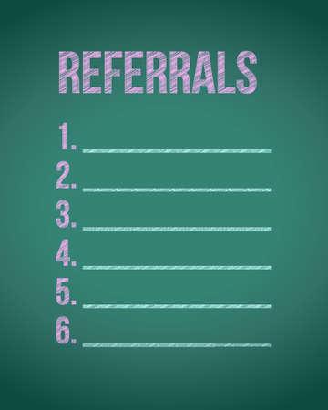 referrals: referrals chalk board illustration design graphic background