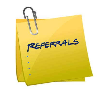 referrals: referrals memo post illustration design graphic background