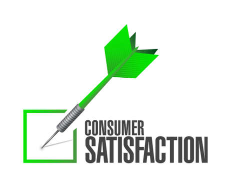 consumer: Consumer Satisfaction check dart sign concept illustration design graphic