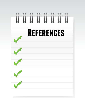 references: references notepad illustration design over a white background