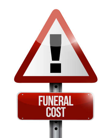 funeral cost warning road sign illustration design graphic