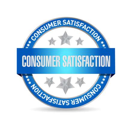 consumer: Consumer Satisfaction seal sign concept illustration design graphic