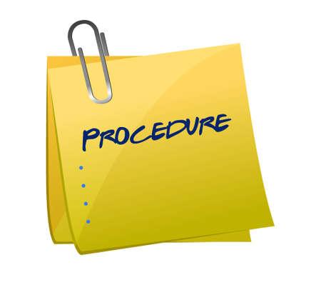 procedure lijst memorandum bericht illustratie grafisch