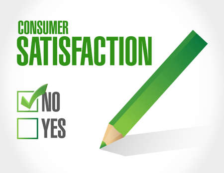 no Consumer Satisfaction approval sign concept illustration design graphic