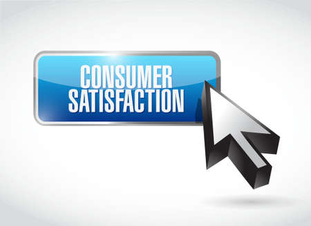 consumer: Consumer Satisfaction button sign concept illustration design graphic Illustration