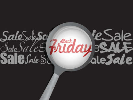 magnify glass: black friday magnify glass illustration design graphic Illustration