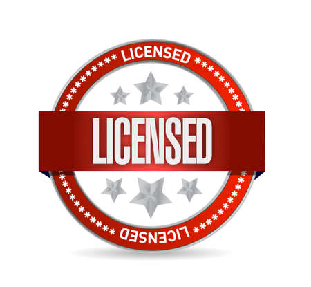licensed: licensed seal sign concept illustration design graphic