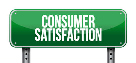 consumer: Consumer Satisfaction street road sign concept illustration design graphic