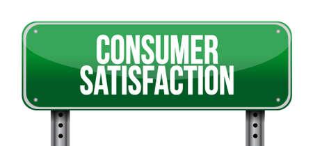 Consumer Satisfaction street road sign concept illustration design graphic