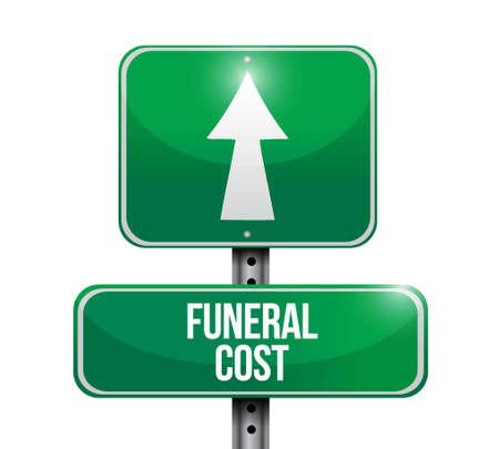 funeral cost street sign illustration design graphic Ilustracja