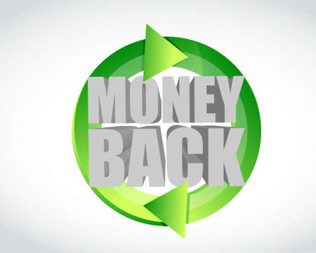 money back green cycle illustration design graphic