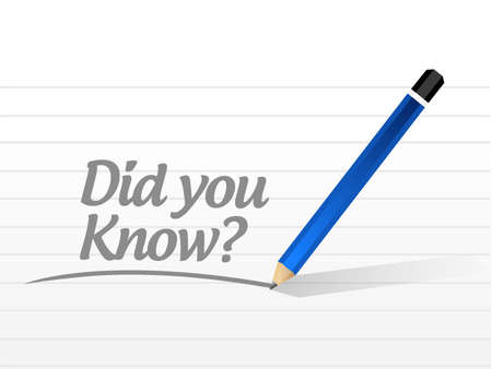 did you know: did you know question message sign illustration design