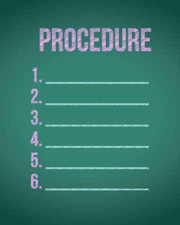 krijtbord procedure lijst illustratie grafisch