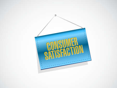 consumer: Consumer Satisfaction sign concept illustration design graphic