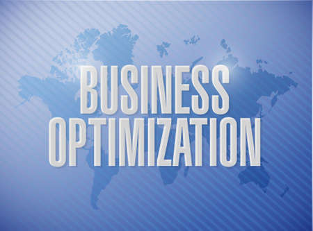 increase visibility: business optimization world map sign concept illustration design graphic Stock Photo
