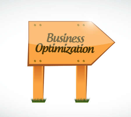 increase visibility: business optimization wood sign concept illustration design graphic