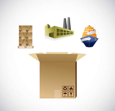 logistics supplies icons concept illustration design graphic