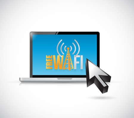 free wifi computer sign illustration design graphic Illustration