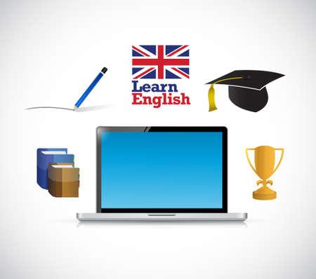 learn english online diagram concept illustration design graphic