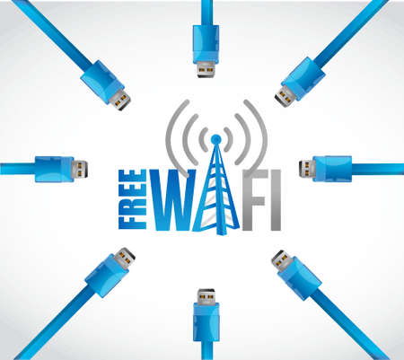boardcast: free wifi multiple connections concept illustration design graphic Illustration