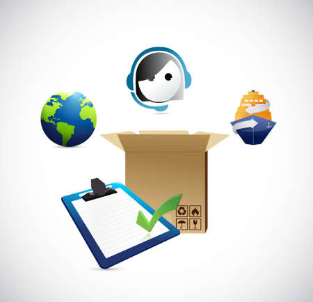 shipping services and logistics. illustration design graphic