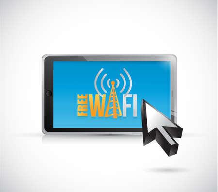 free wifi tablet sign illustration design graphic Illustration
